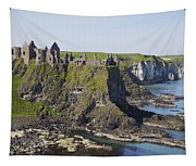 Ruins On Coastal Cliff Tapestry