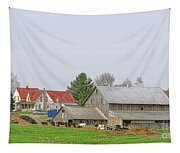Rural Vermont Farm Scene Tapestry