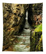 Rushing Through The Chasm Tapestry