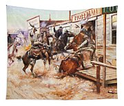 Russell Cowboy Art, 1909 Tapestry