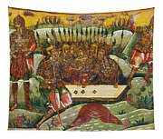 Russian Icon: Dice Players Tapestry