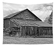 Rustic Charm Monochrome Tapestry