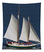 Sailboat In The San Francisco Bay . 7d7900 Tapestry