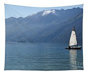 Sailing Boat And Mountain Tapestry