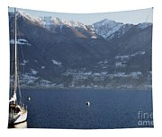 Sailing Boat On A Lake Tapestry