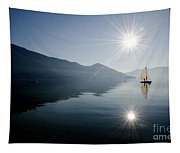 Sailing Boat On The Lake Tapestry