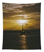 Sailing Sunset Tapestry