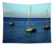 Sailing The Blue Waters Of Greece Tapestry