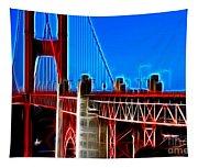 San Francisco Golden Gate Bridge Electrified Tapestry