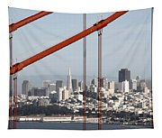 San Francisco Through The Cables Tapestry