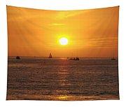 San Juan Capistrano Beach Sunset Tapestry
