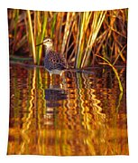 Sandpiper Wading For Food, Yukon Tapestry