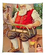 Santa's Workshop Tapestry