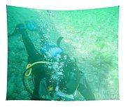 Scuba Diving Tapestry