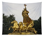 Sculpture Of Columbia Triumphant  Tapestry