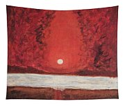 Sea And Moon Tapestry