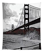 Sea Spray Under The Golden Gate Bridge Tapestry