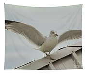 Seagull With Character Tapestry
