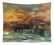 Seascape Impression In Spain 02 Tapestry
