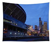 Seattle Sky At Dusk Tapestry