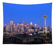 Seattle Skyline 3 Tapestry