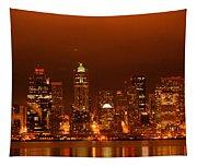 Seattle Skyline Tapestry