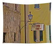 Secluded Restaurant Of Tuscany Tapestry