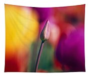 Selective Focus Tulip Flower Field Tapestry