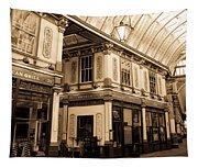 Sepia Toned Image Of Leadenhall Market London Tapestry