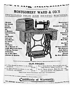 Sewing Machine Ad, 1895 Tapestry