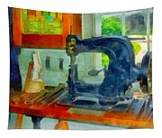 Sewing Machine In Harness Room Tapestry