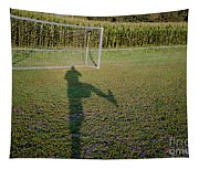 Shadow From A Football Player Tapestry