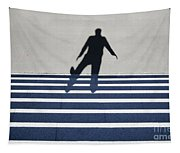 Shadow Walking The Stairs Tapestry