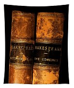 Shakespeare Leather Bound Books Tapestry