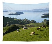 Sheep Grazing By Lough Corrib Cong Tapestry
