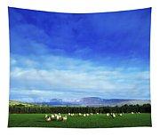 Sheep Grazing In Field County Wicklow Tapestry