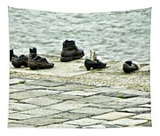 Shoes On The Danube Bank - Budapest Tapestry