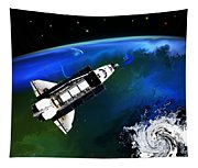 Shuttle On Orbit Tapestry