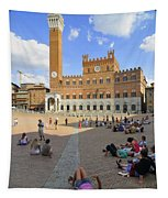 Siena Italy - Piazza Del Campo Tapestry