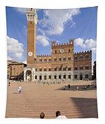 Siena Italy - Piazza Del Campo With Palazzo Pubblico Tapestry