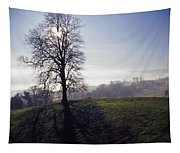 Silhouette Of Tree Tapestry