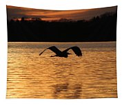 Silouette On The Lake Tapestry