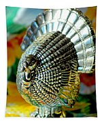 Silver Turkey Right Tapestry