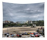Simply North Beach From Tenby Harbour Tapestry