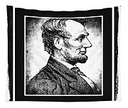 Sixteenth President Bw Tapestry