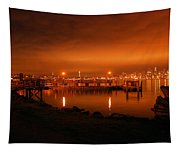 Skies On Fire Tapestry