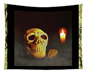 Skull And Candle Tapestry