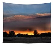 Smoky Sunset Wide Angle 08 27 12 Tapestry