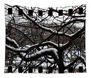 Snow On Branches Tapestry