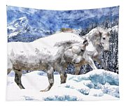 Snow Play Tapestry
